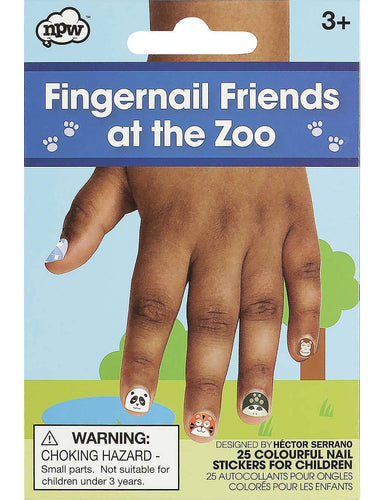 NPW - Fingernail Friends At The Zoo Nail Wraps - Nail Wraps - The Planet Collection - Naiise