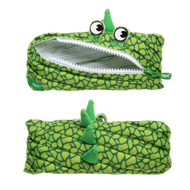 Zipit Dino Monster Pouch Green - Pencil Cases - Zigzagme - Naiise