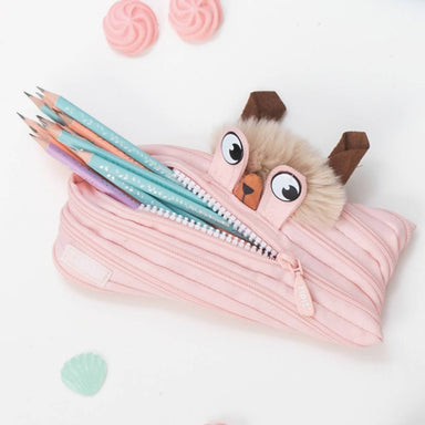 Zipit Lola Monster Pouch Peach - Pencil Cases - Zigzagme - Naiise