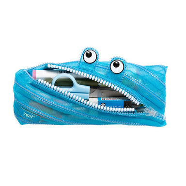 Zipit Mesh Monster Pouch Blue - Pencil Cases - Zigzagme - Naiise