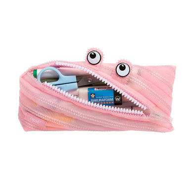 Zipit Mesh Monster Pouch Pink - Pencil Cases - Zigzagme - Naiise