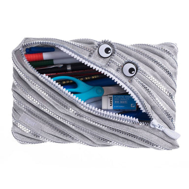 Zipit Monster Jumbo Pouch Silver - Pencil Cases - Zigzagme - Naiise