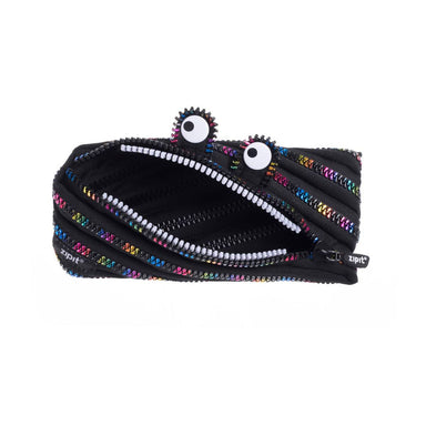 Zipit Monster Pouch Blk & Rainbow - Pencil Cases - Zigzagme - Naiise