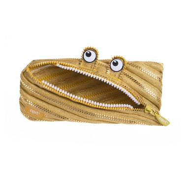 Zipit Monster Pouch Gold - Pencil Cases - Zigzagme - Naiise