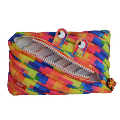 Zipit Pixel Monster Jumbo Pouch Yellow - New Arrivals - Zigzagme - Naiise