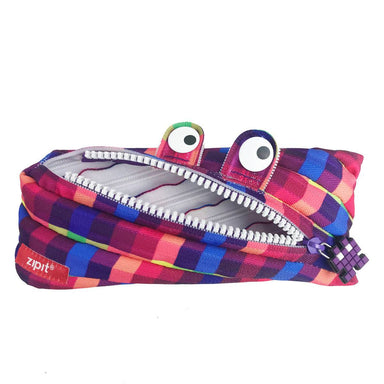 Zipit Pixel Monster Pouch Purple - New Arrivals - Zigzagme - Naiise