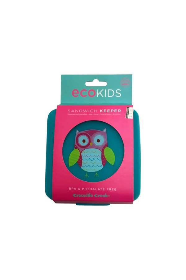 Crocodile Creek Sandwich Keepers - Owl - Lunch Boxes - The Children's Showcase - Naiise