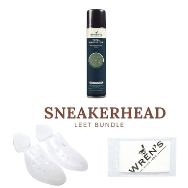 Sneakerhead LEET Bundle consisting a pair of H & S Sneaker Shoe Trees, WREN'S Total Protector Waterproof Spray and a WR - Women Shoes - Si Quattro - Naiise