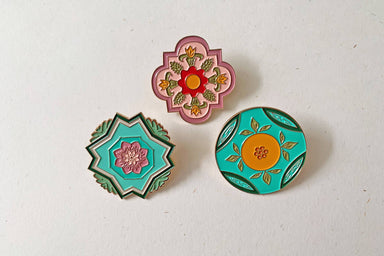 Peranakan Inspired Brooch - Brooches - w.yarn - Naiise