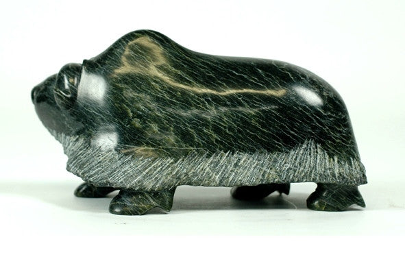 "8"" Darkish Stone Muskox by Pudlalik Shaa"