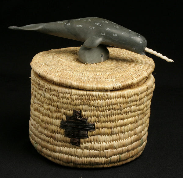 Narwhal on basket Tina Meeko