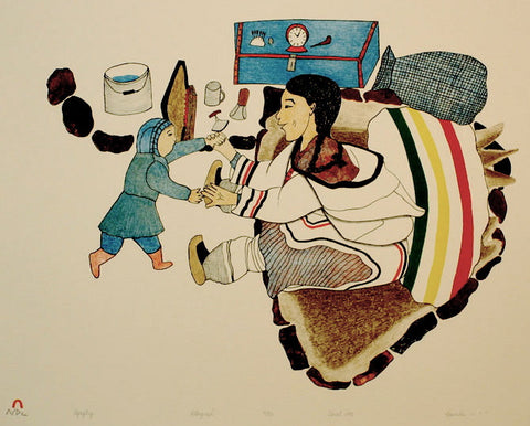 1993 AQAQTUQ (SINGING LOVE SONG) by Napachie Pootoogook