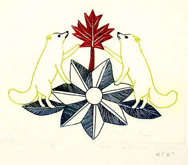 1975 ARCTIC EMBLEMS by Peter Pitseolak