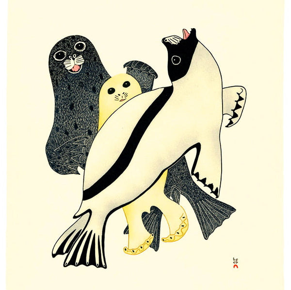 2008 ARCTIC SEALS by Kananginak Pootoogook