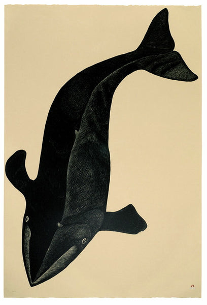 2003 ARVIALUK (GREAT BIG WHALE) by Kananginak Pootoogook