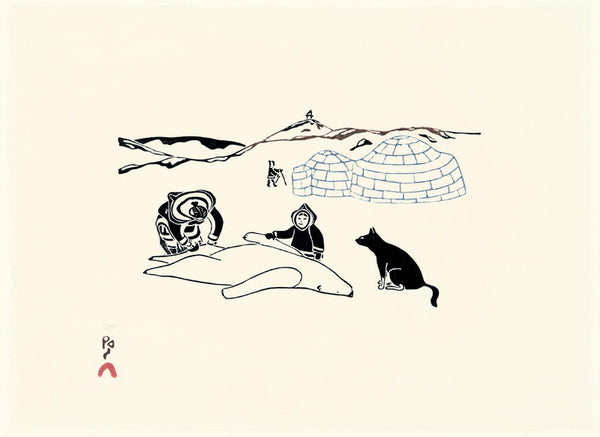 2011 AULAJIJAKKA (THINGS I REMEMBER) by Kananginak Pootoogook