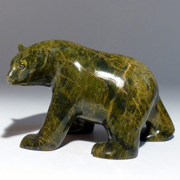 "7"" Brown Walking Bear by Ashevak Adla"