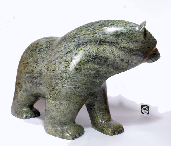 "Huge 90 lbs - 20"" Walking Bear by Ashevak Adla"