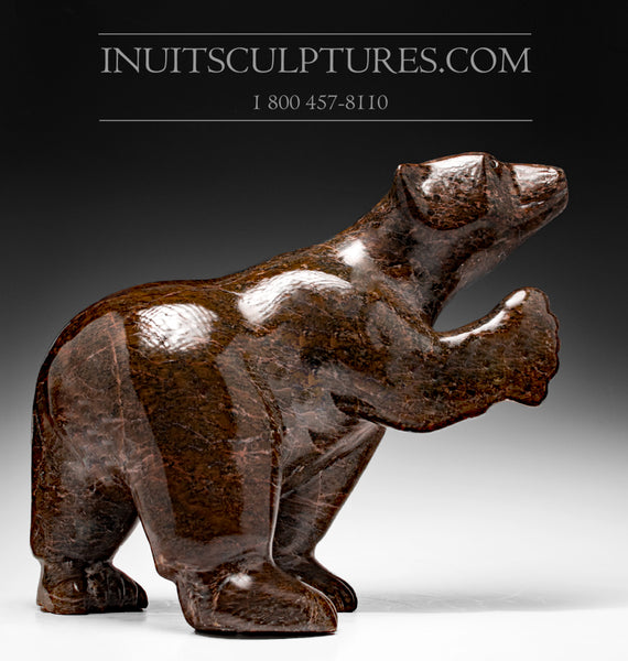 "Investment Piece - LAST 18"" Stunning Walking Bear by the Late Legendary Axangayuk Shaa (1937-2019)"