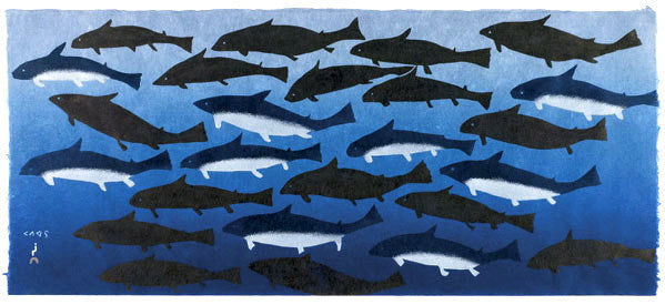 2011 IQALUKJUAT (BLUE SHARKS) by Papiara Tukiki