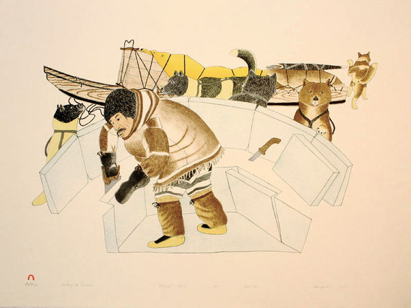 1993 BUILDING THE SNOWHOUSE by Kananginak Pootoogook