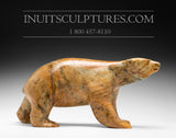"RESERVED** 13"" Masterpiece Walking Bear by Bill Nasogaluak"