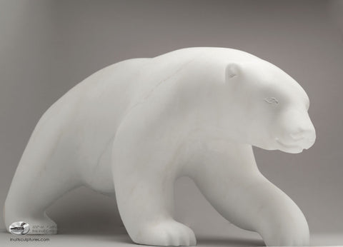 "RESERVED** 20"" Masterpiece Walking Bear by Bill Nasogaluak"