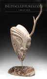 "24"" Masterpiece Whale Bone Sedna Face by world famous Billy Merkosak"