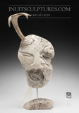 "18"" Masterpiece Whale Bone Sedna Face by world famous Billy Merkosak"
