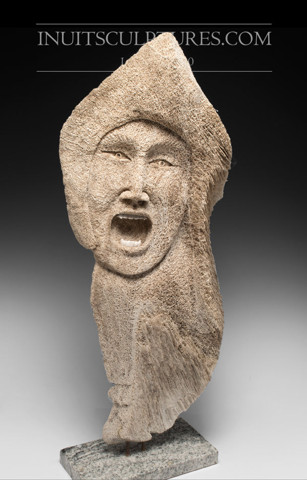 30 Masterpiece Whale Bone Female Spirit By World Famous Bob Kussy G Inuit Sculptures Art Gallery