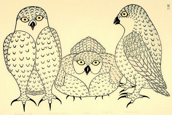 1982 CONFERENCE OF OWLS by Kananginak Pootoogook