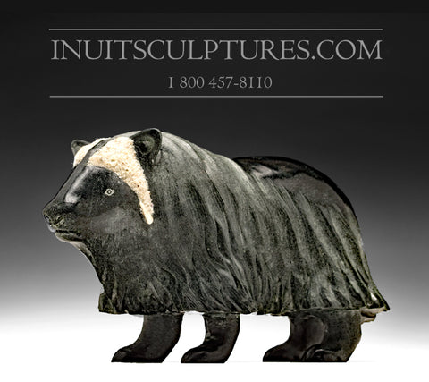 "7"" Whimsical Muskox by Master Carver Derrald Taylor"