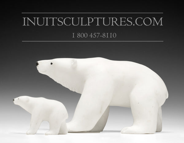 "8"" Mother and Cub Bear by Master Carver Derrald Taylor"