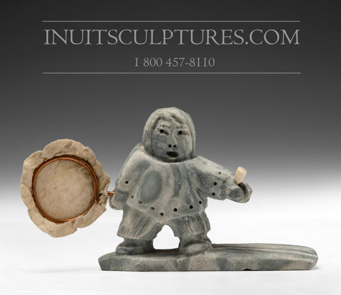 "5"" Inuk Drum Dancer by Roy Klengenberg"