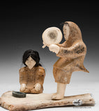 RESERVED** Masterpiece Setting Inuk Camping Scene by World Famous Late Emily Illuitok (1943-2012)