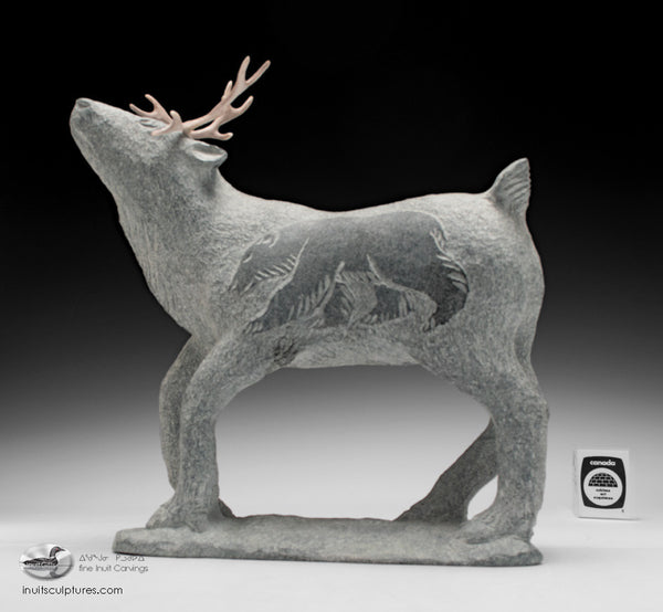"11"" Scenting Caribou by Esa Kripenik"