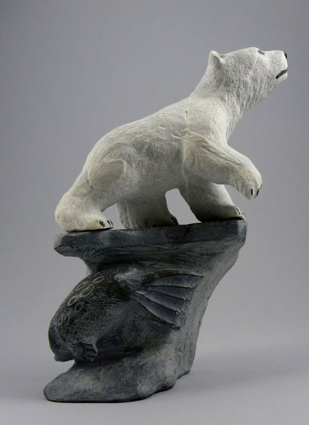 "9"" Walking Bear and Seal by Esa (Esau) Kripanik"