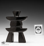 "4"" Dark Inukshuk by Josie Ohaytook"