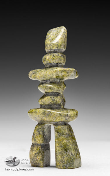 "5"" Green Inukshuk by Ning Shaa"
