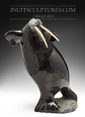 "14"" Dancing Walrus by World Famous Jaco Ishulutak"