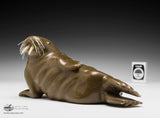 "7.25"" Copper Brown Walrus by Famous Jimmy Iqaluq"