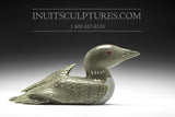 "10"" Pale Green Loon with Inlay Eyes by Jimmy Iqaluq"