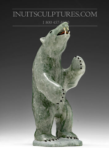 "6"" Bear with red tongue by Famous Jimmy Iqaluq"