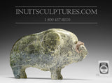 "RESERVED** 8"" Pale Green Muskox by Joamie Aipeelee"