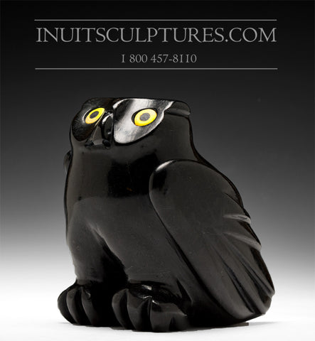 "7"" Black Owl by Joanasie Manning"