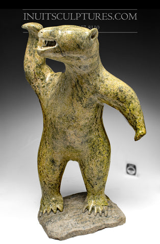 "RESERVED** Iconic 19"" Dancing Bear with Teeth by Joannie Ikkidluak"