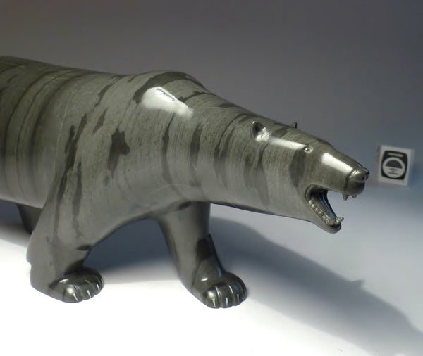 "14"" Spectacular Bear with Teeth by Johnassie Ippak"