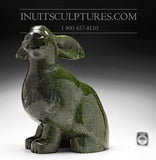 "16"" Striking Dark Emerald Green Arctic Hare by Johnnee Lee Judea"