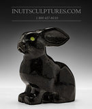 "7"" Striking Black Marble Arctic Hare by Johnnee Lee Judea"