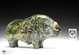 "6"" Greenish Muskox by Joamie Ipeelee"